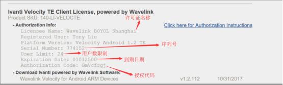 Wavelink application process